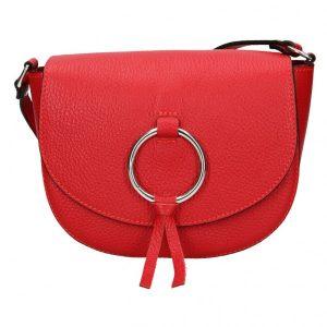 Dámská crosbody kabelka Vera Pelle Marea – červená