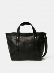 Černá malá kožená kabelka Pieces Aida