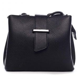 Dámská kožená crossbody kabelka černá – ItalY Euren černá
