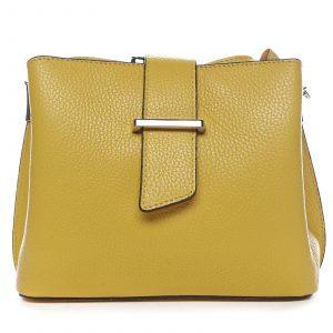 Dámská kožená crossbody kabelka žlutá – ItalY Euren žlutá