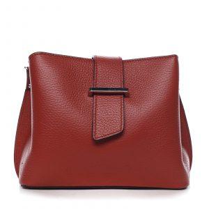Dámská kožená crossbody kabelka červená – ItalY Euren červená