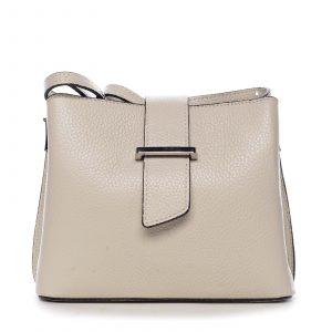 Dámská kožená crossbody kabelka béžová – ItalY Euren béžová
