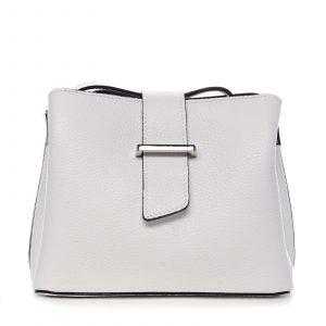 Dámská kožená crossbody kabelka bílá – ItalY Euren bílá