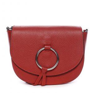 Dámská kožená crossbody kabelka červená – ItalY Vaiana červená