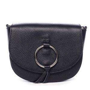 Dámská kožená crossbody kabelka černá – ItalY Vaiana černá
