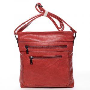 Moderní střední crossbody kabelka červená – Delami Karlie červená