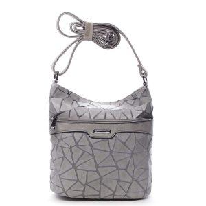 Dámská atraktivní crossbody kabelka šedá – Silvia Rosa Tanitha Cool šedá