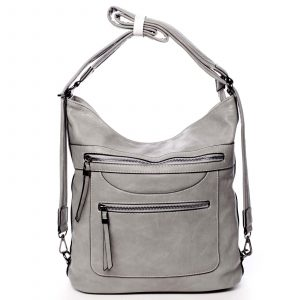 Dámská kabelka batoh šedá – Romina Pamila šedá