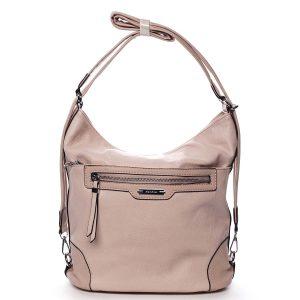 Dámská kabelka batoh růžová – Romina Zilla růžová
