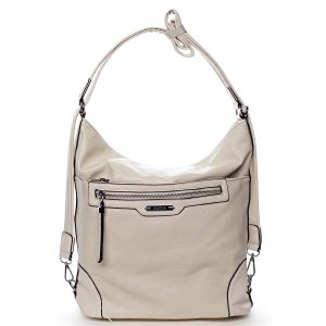 Dámská kabelka batoh světle béžová – Romina Zilla béžová