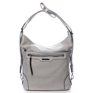 Dámská kabelka batoh světle šedá – Romina Zilla šedá