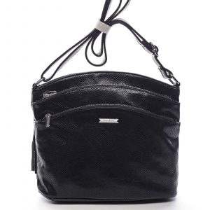 Dámská crossbody kabelka černá – Silvia Rosa Billie Snake černá