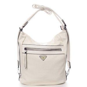 Dámská kabelka batoh světle béžová – Romina Tonandis béžová