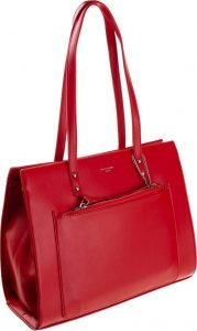 DAVID JONES ELEGANTNÍ BUSINESS SHOPPER BAG CM5677 RED Velikost: univerzální