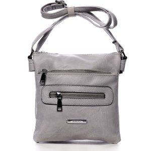 Dámská crossbody kabelka světle šedá – Romina Chasing šedá