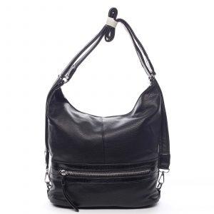 Dámská kabelka batoh černá – Romina Lazy černá