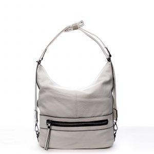 Dámská kabelka batoh světle šedá – Romina Lazy šedá