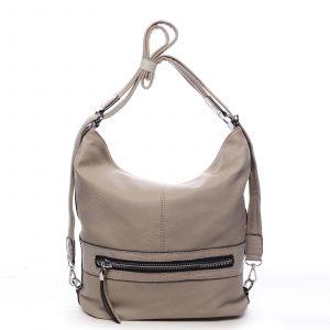 Dámská kabelka batoh tmavě béžová – Romina Lazy béžová