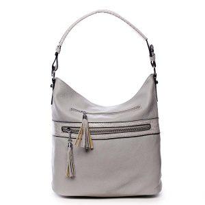 Dámská kabelka přes rameno světle šedá – Romina Becca šedá