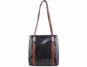 Kabelka batoh Cereta kožená – černá / hnědá