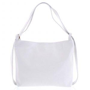 Módní bílá kožená kabelka přes rameno – ItalY Nympha bílá