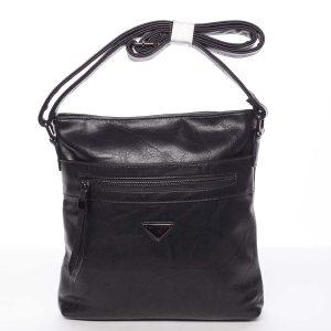 Trendy měkká crossbody kabelka černá – Delami Devyn černá