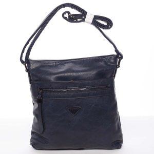 Trendy měkká crossbody kabelka modrá – Delami Devyn modrá