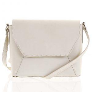 Béžová dámská kožená crossbody kabelka – ItalY Dunya Two béžová