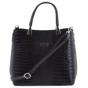 Luxusní dámská kožená kabelka černá – ItalY Marion černá