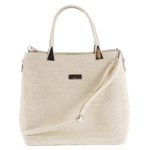 Luxusní dámská kožená kabelka béžová – ItalY Marion béžová