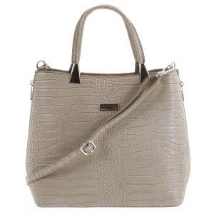Luxusní dámská kožená kabelka taupe – ItalY Marion taupe