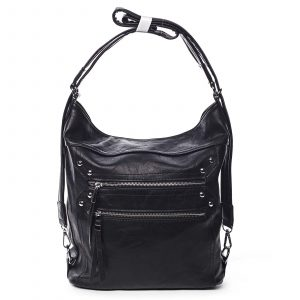 Dámská kabelka batoh černá – Romina Alfa černá