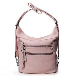 Dámská kabelka batoh růžová – Romina Alfa růžová