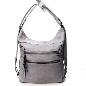 Dámská kabelka batoh světle šedá – Romina Alfa šedá