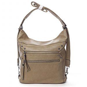 Dámská kabelka batoh tmavě béžová – Romina Alfa béžová