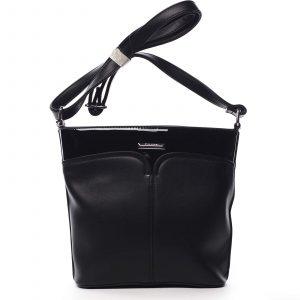 Dámská crossbody kabelka černá – Silvia Rosa Enegmi černá