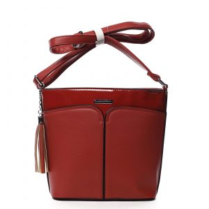 Dámská crossbody kabelka červená – Silvia Rosa Enegmi červená