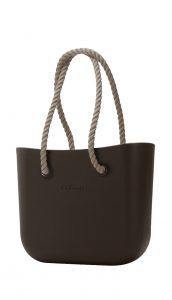O bag kabelka MINI Testa di Moro s dlouhými provazy natural