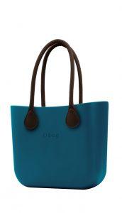 O bag kabelka MINI Ottanio s hnědými dlouhými koženkovými držadly