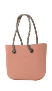 O bag kabelka MINI Rouge/Phard s dlouhými provazy natural