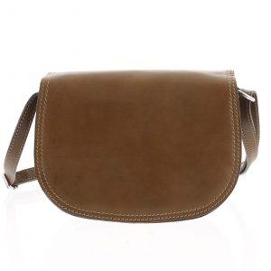 Menší hnědá crossbody kožená kabelka – ItalY Zoya hnědá
