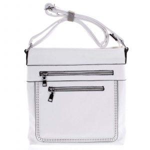 Moderní střední crossbody kabelka bílá – Delami Karlie bílá