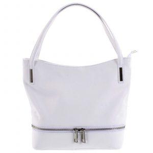 Dámská stylová kožená kabelka přes rameno bílá – ItalY Acness bílá