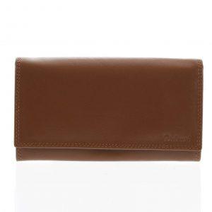 Dámská kožená peněženka světle hnědá – Delami Wandy hnědá