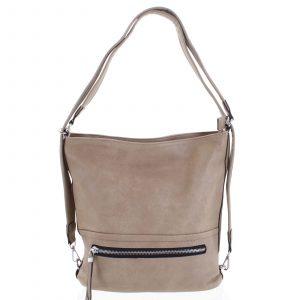Dámská kabelka batoh světlá taupe – Romina Nikka taupe