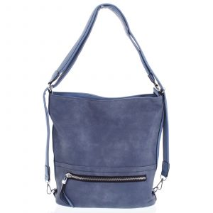 Dámská kabelka batoh bledě modrá – Romina Nikka modrá