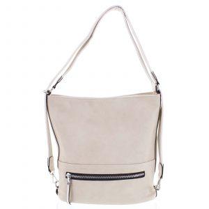 Dámská kabelka batoh béžová – Romina Nikka béžová