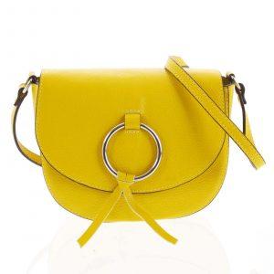 Dámská kožená crossbody kabelka žlutá – ItalY Vaiana žlutá