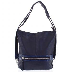 Dámská kabelka batoh tmavě modrá – Romina Lazy tmavě modrá