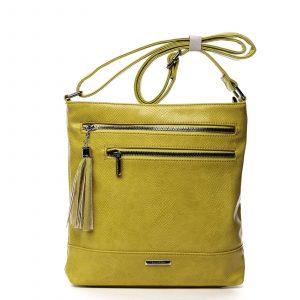 Dámská crossbody kabelky žlutá – Silvia Rosa Babena Snake žlutá